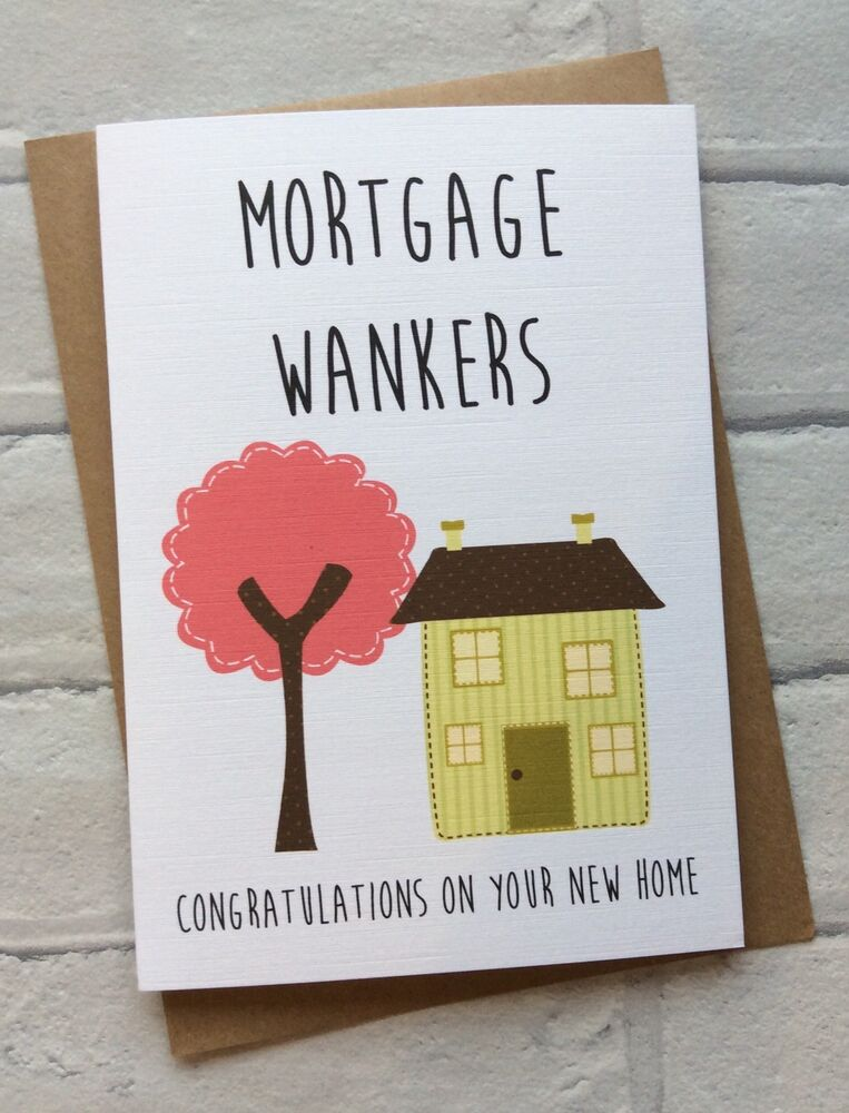 Personalised New Home Housewarming Moving Card Mortgage