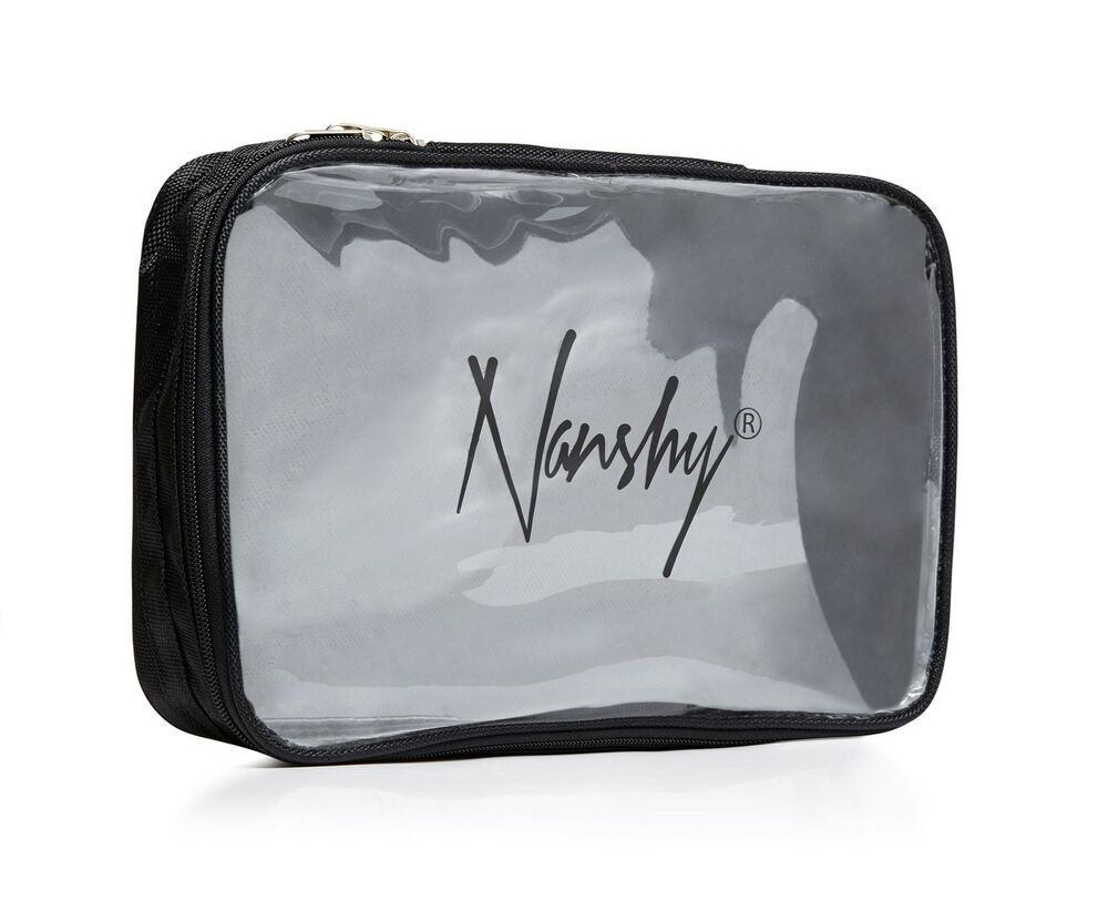 Nanshy Clear PVC Cosmetic Makeup Toiletry Travel Organiser
