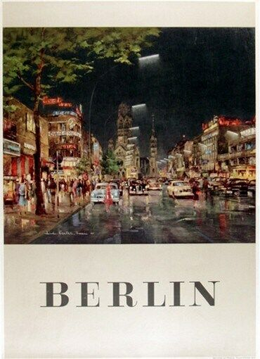 GERMANY VINTAGE TRAVEL POSTER Berlin RARE HOT NEW EBay