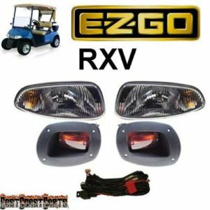 EZGO RXV Golf Cart BASIC LIGHT KIT Halogen HeadLight s