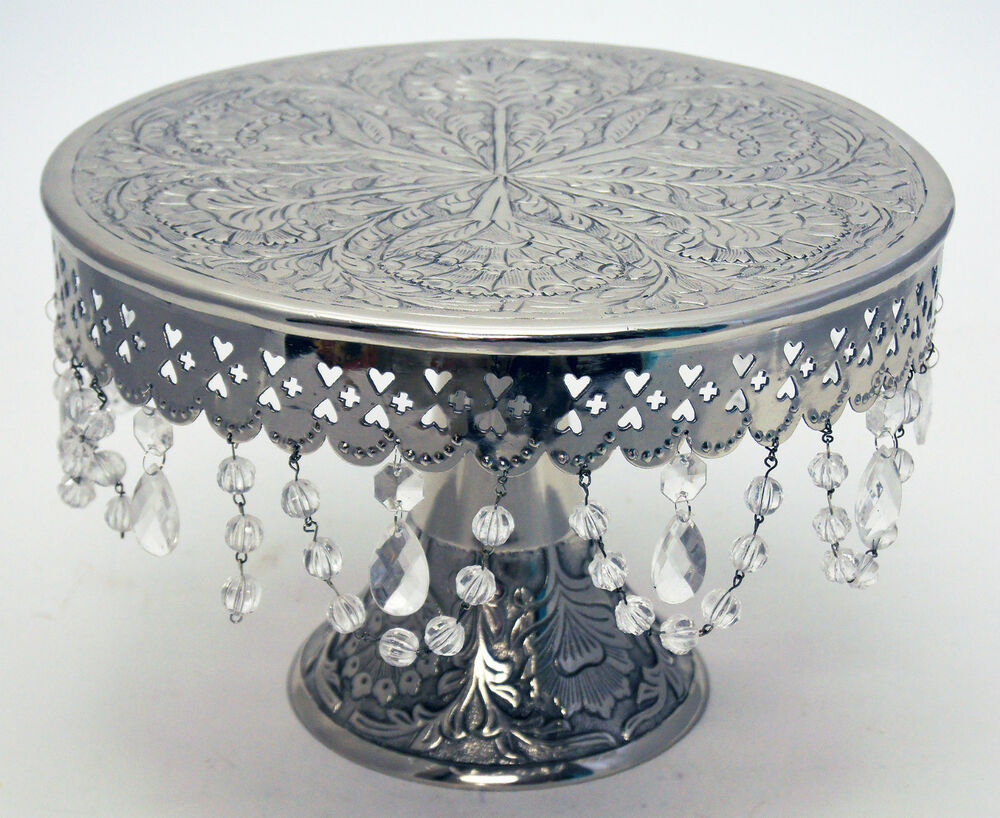 Wedding Silver Cake Stand Round Pedestal14 With Beautiful