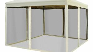 Outdoor Gazebo Canopy 10'x10' Pop Up Party Tent Mesh
