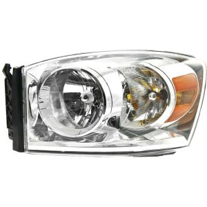 Headlight For 20072009 Dodge Ram 1500 Ram 2500 Driver