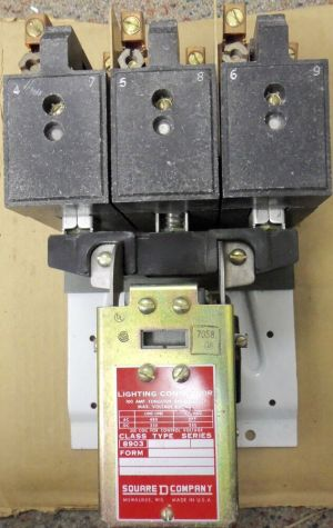 Square D Lighting Contactor Class 8903 Type 100 Amp 3 Pole