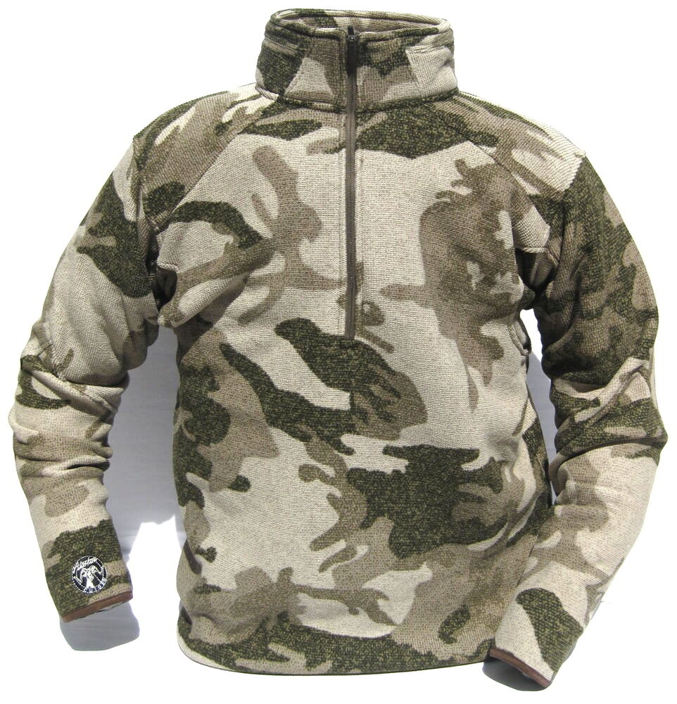 1 Camo Pullover Fleece 4 Zip