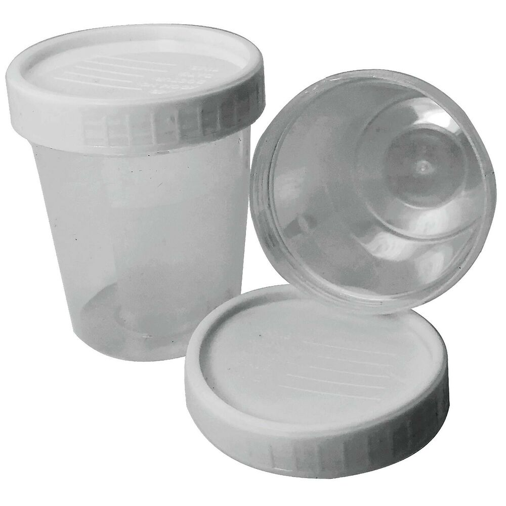 Lids Ml 7 Plastic Sample Pots