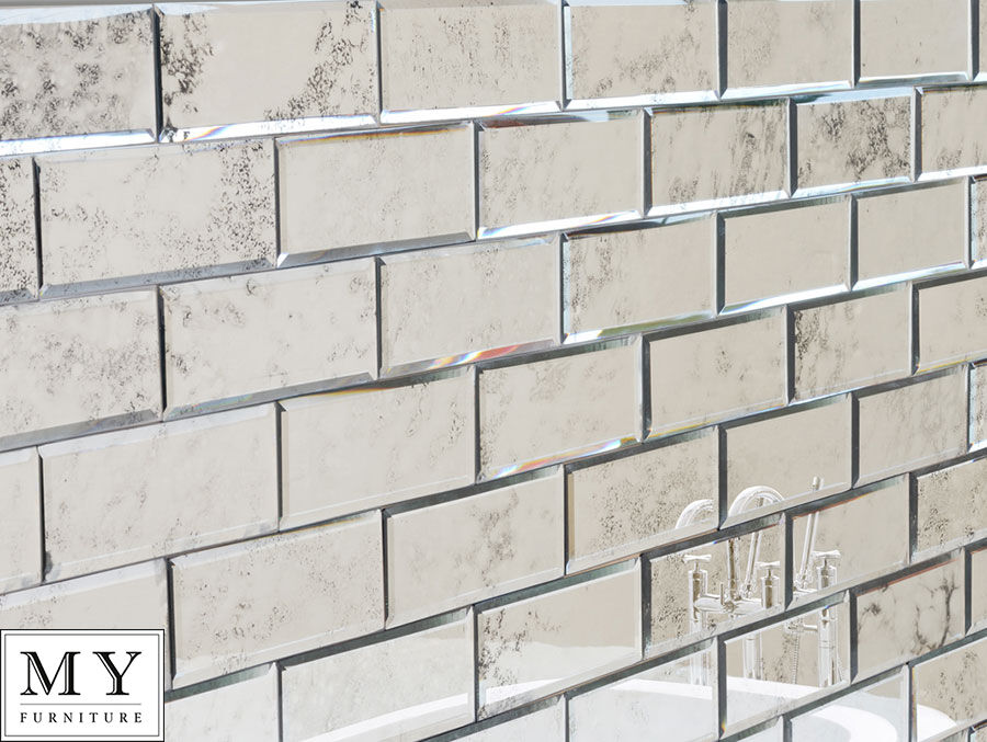 Antiqued Mirror Beveled Wall Tiles / Bathroom Kitchen MY
