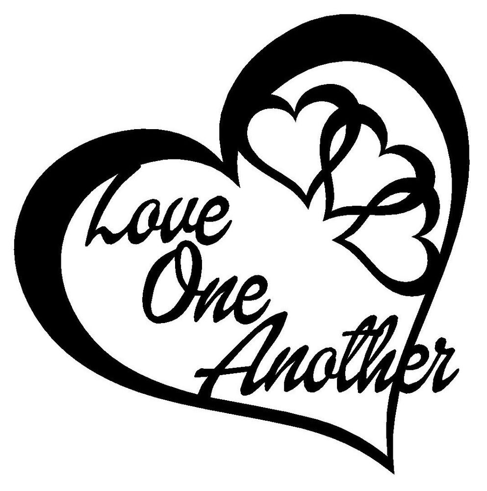 Download LOVE ONE ANOTHER HEART Vinyl Decal Sticker Car Window Wall ...