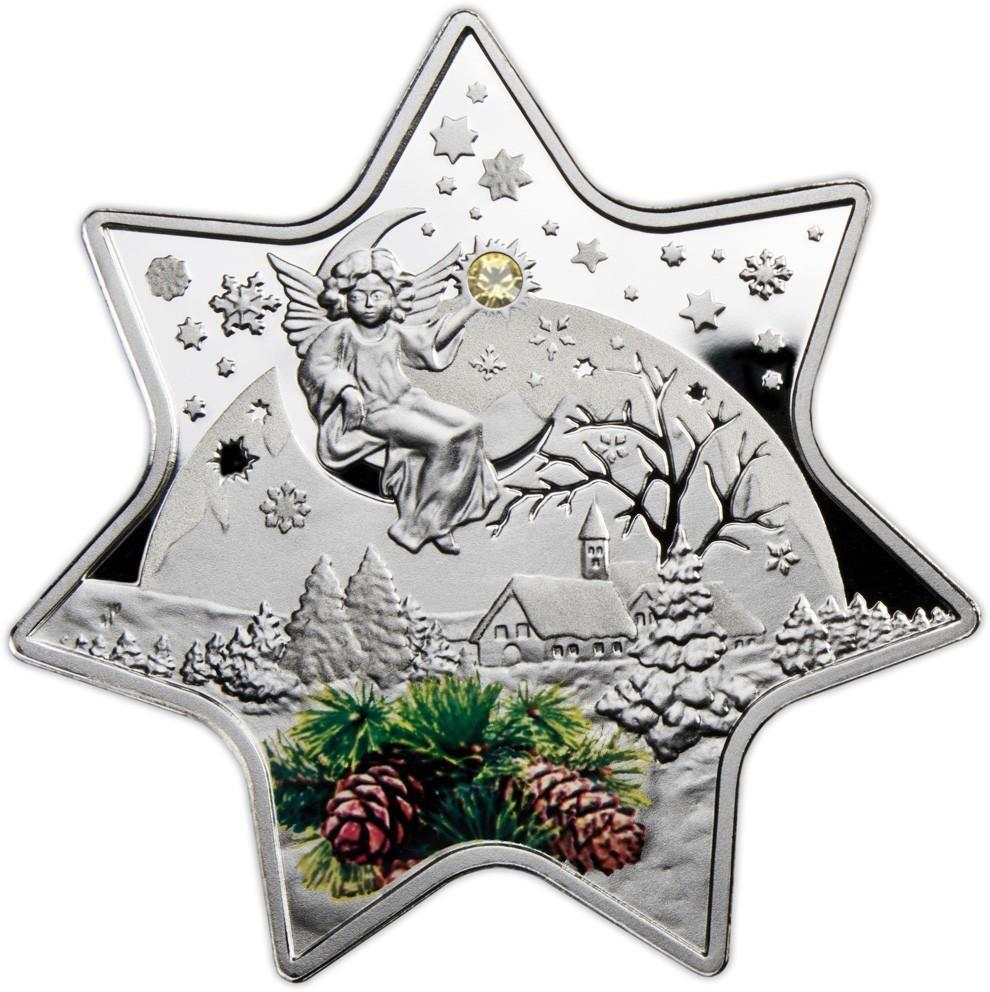 Niue 2012 2 Christmas Star 2828g Silver Proof Coin EBay