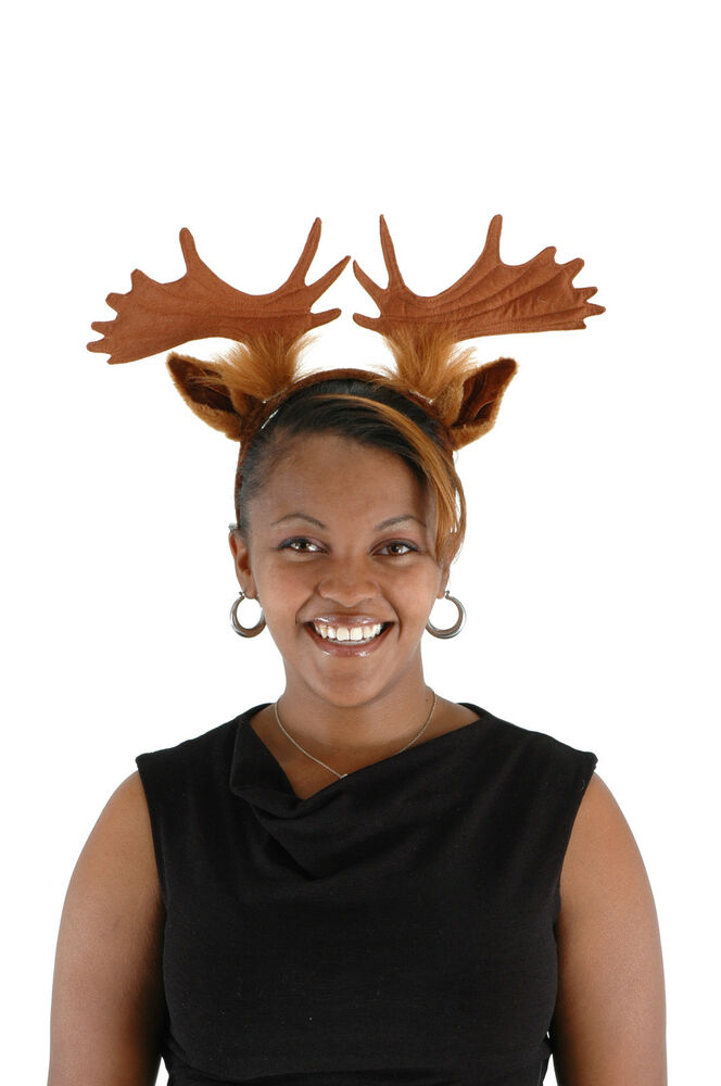 Moose Costume Adult Child Kids Headband With Antlers Elope