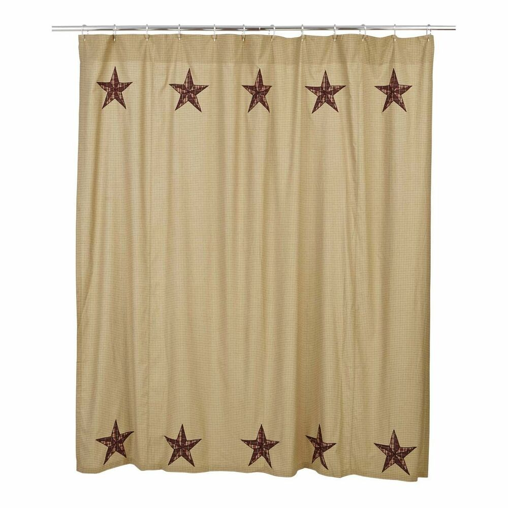Rustic Country Primitive Landon Star Shower Curtain Western Ranch Farmhouse EBay
