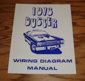 1973 Plymouth Duster Wiring Diagram Manual 73 | eBay
