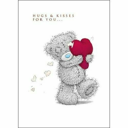 Hugs Amp Kisses Me To You Bear Valentines Day Greeting Card