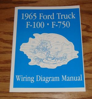 1965 Ford Truck F100  F750 Wiring Diagram Manual Brochure