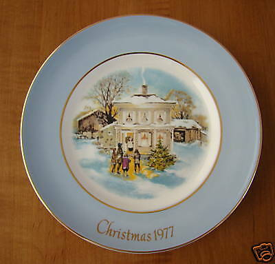 Avon Christmas 1977 Collectible Plate Enoch Wedgwood EBay