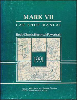 1991 Lincoln Mark VII Original Shop Manual 91 LSC Blass | eBay