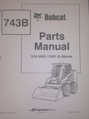 Bobcat 743B Parts Manual Book Skid steer Early 6720667 | eBay