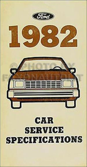 1982 Lincoln Service Specifications Manual Town Car Mark VI Continental 82   eBay