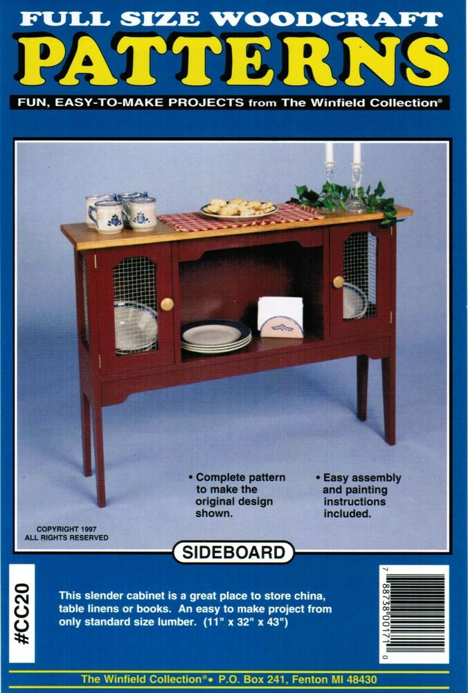 Sideboard Cabinet Woodworking Plans The Winfield