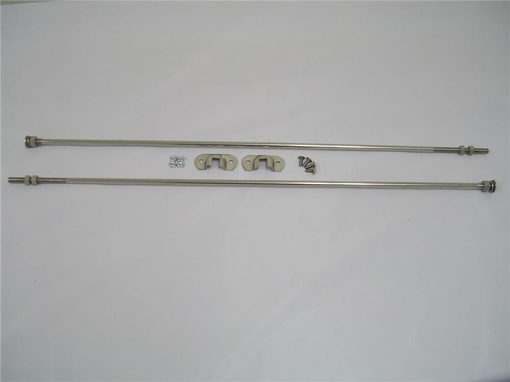 Ford Car Stainless Radiator Firewall Support Rod Kit