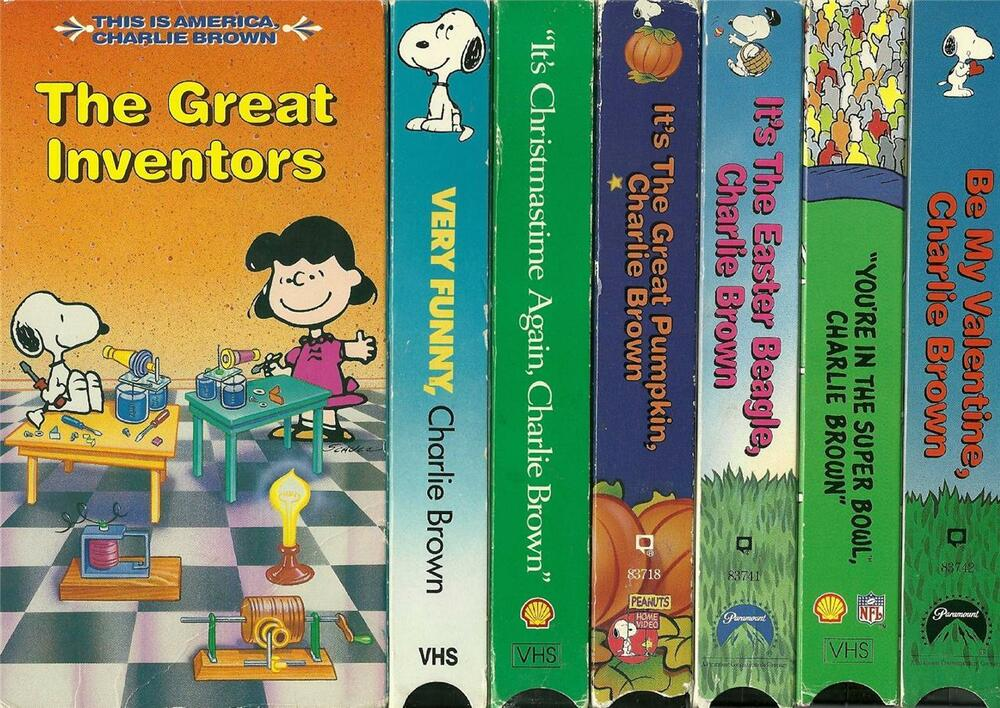 Lot 7 Charlie Brown Peanuts VHS Videos OUT OF PRINT EBay