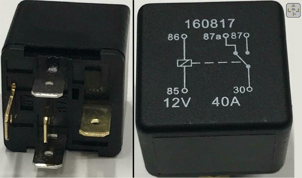 5 Pin Relay 12V 40A Cable Current Protection Heavy Duty