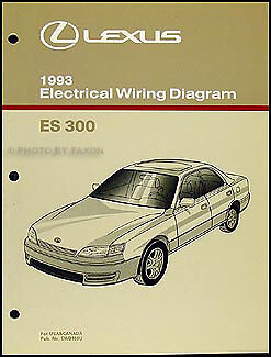NEW 1993 Lexus ES 300 Wiring Diagram Manual Original ES300