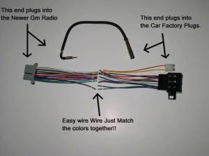 New Factory Radio Stereo Installation Delco 16140051 Wire Wiring Harness Adapter   eBay