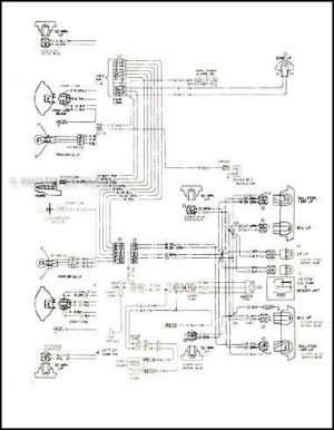 1978 Malibu Classic and Monte Carlo Wiring Diagram 78