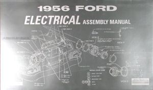 1956 Ford Car Electrical Assembly Manual 56 Wiring Diagrams Factory Schematics | eBay