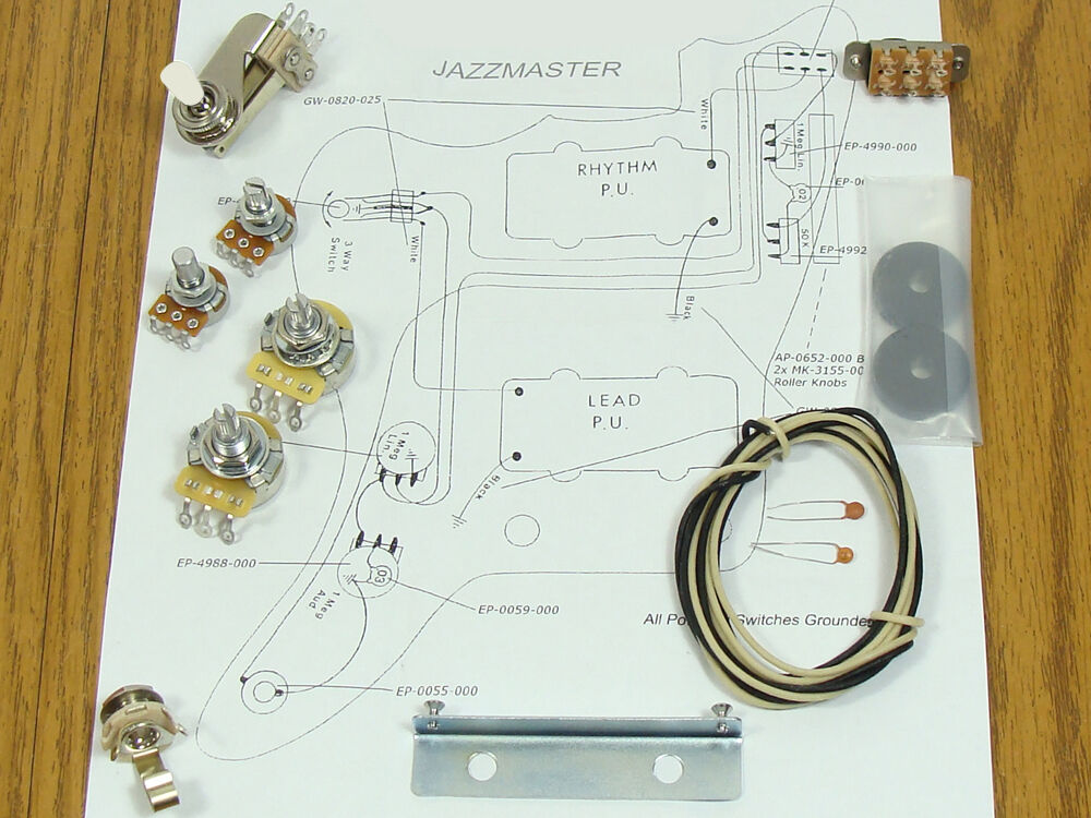 NEW Jazzmaster Pots Switch & Wiring Kit For Fender Guitar
