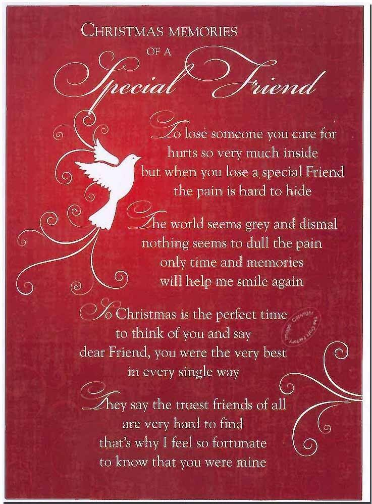 Grave Card XMAS Special Friend FREE Holder CM15