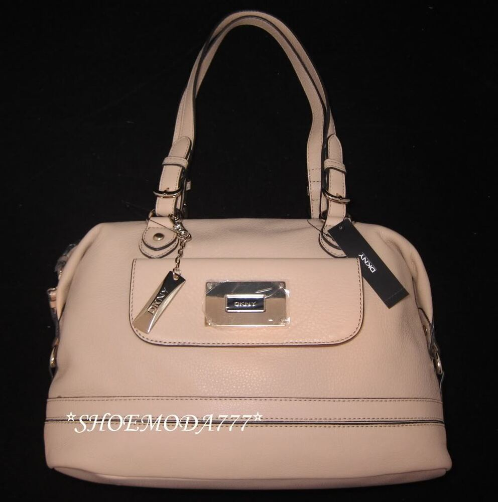 345 Dkny All Over Pebble Leather Dome Satchel Bag Purse