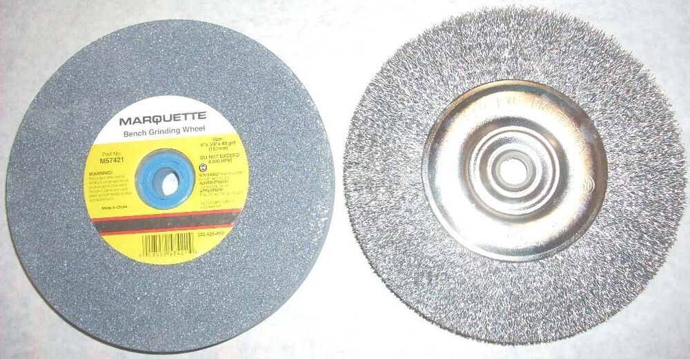 Marquette 6 Quot Bench Grinding Wheel Amp 6 Quot Crimped Wire Brush
