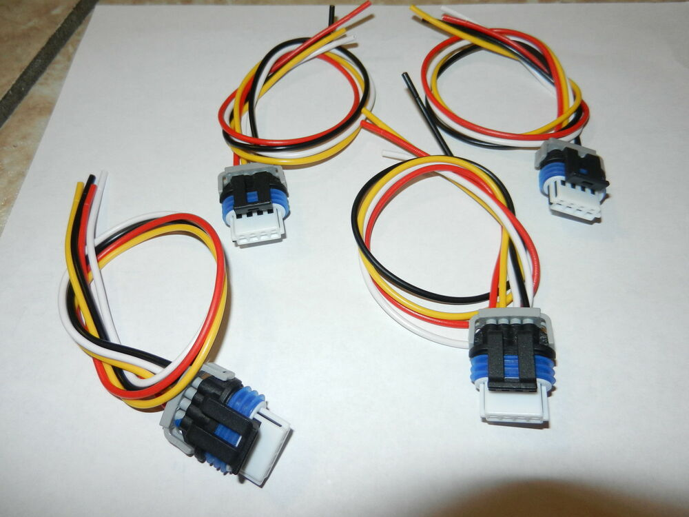 Set 4 Gm Ignition Coil Connector Wiring Pigtail Harness