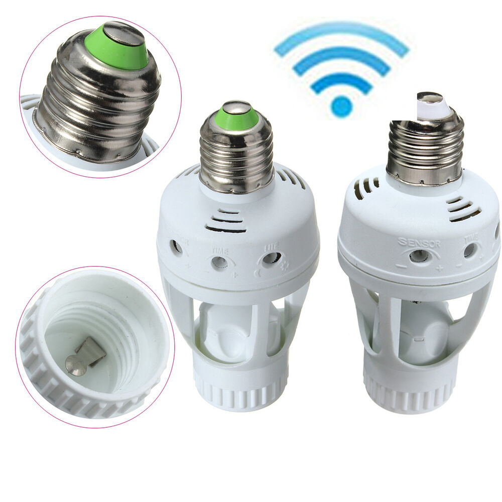 Motion Sensor Light Bulb Socket