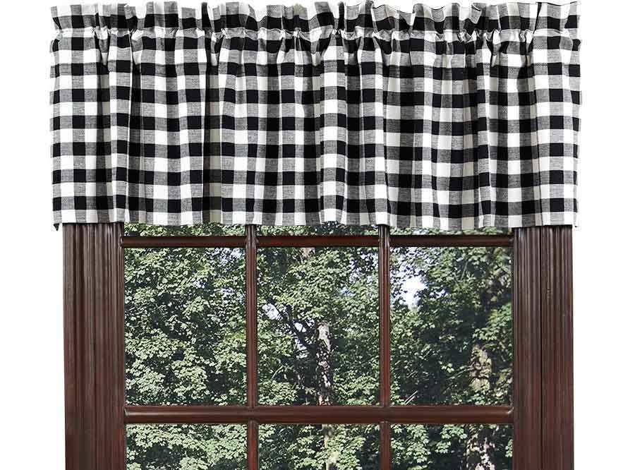 Black And White Plaid Valance