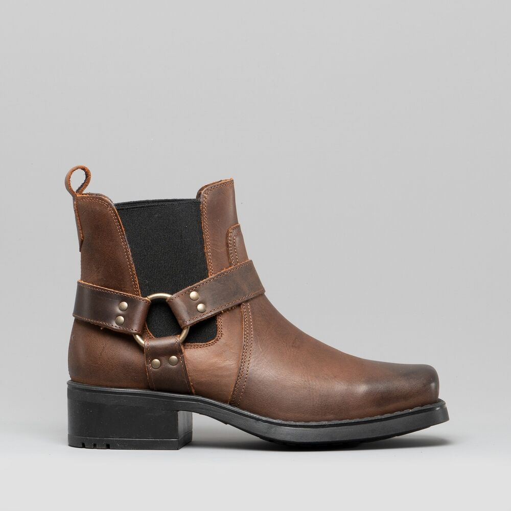 Brown Harness Cowboy Boots