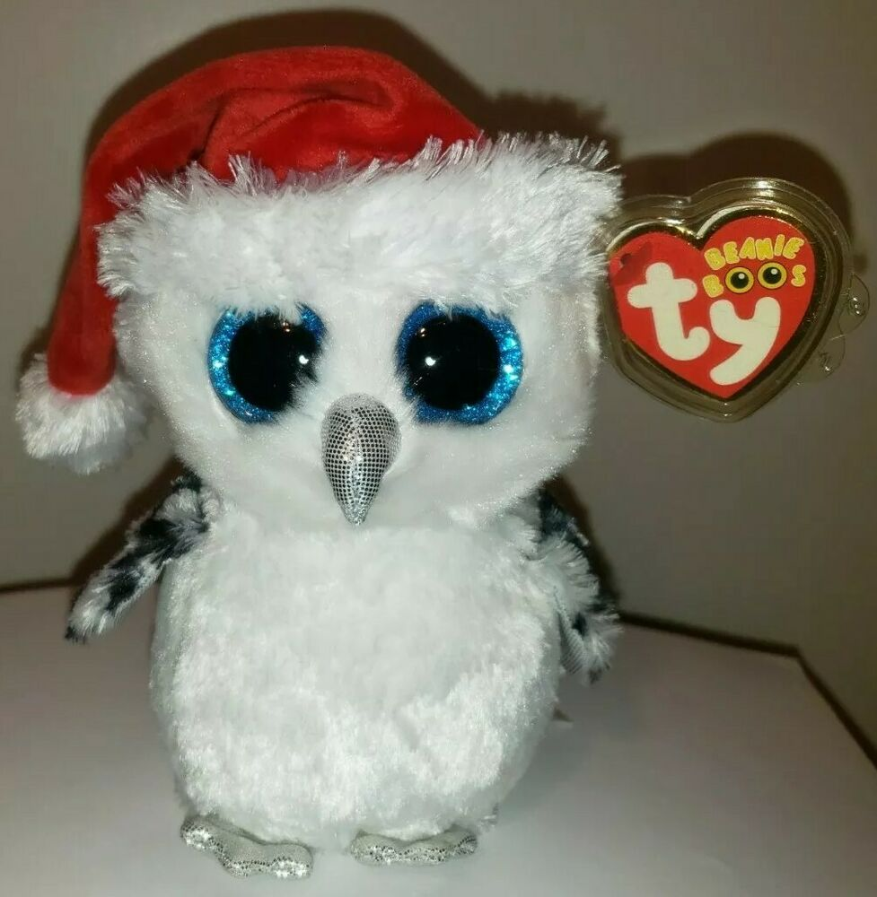 Ty Beanie Boos TINSEL The 6 Christmas Owl Claires