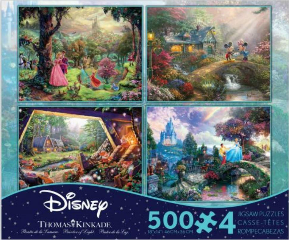 THOMAS KINKADE DISNEY DREAMS COLLECTION MULTI PACK 4 IN 1