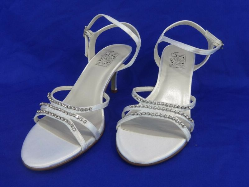NEW Special Occasions by Saugus Shoe JESSY 3530 White Satin Size: 8 | eBay
