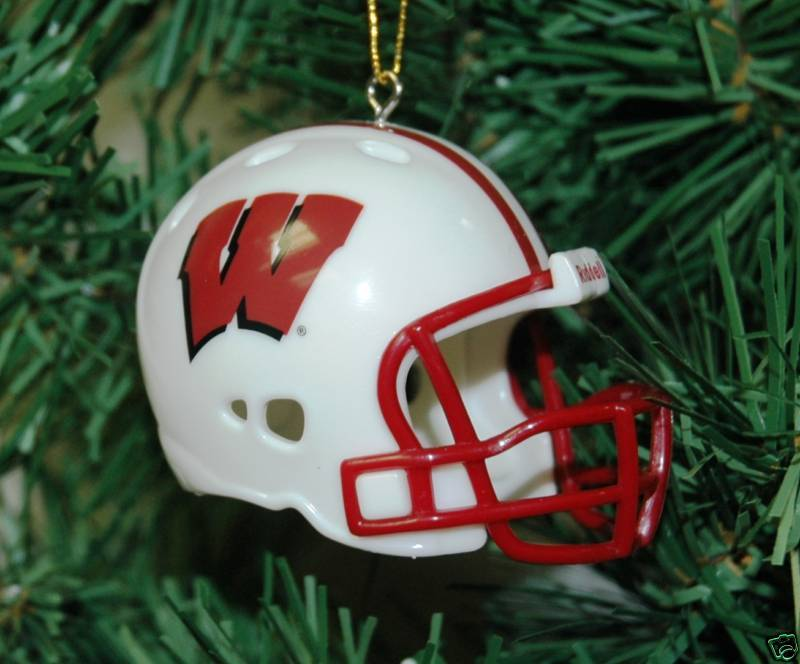 Wisconsin Badger Football Helmet Christmas Ornament EBay