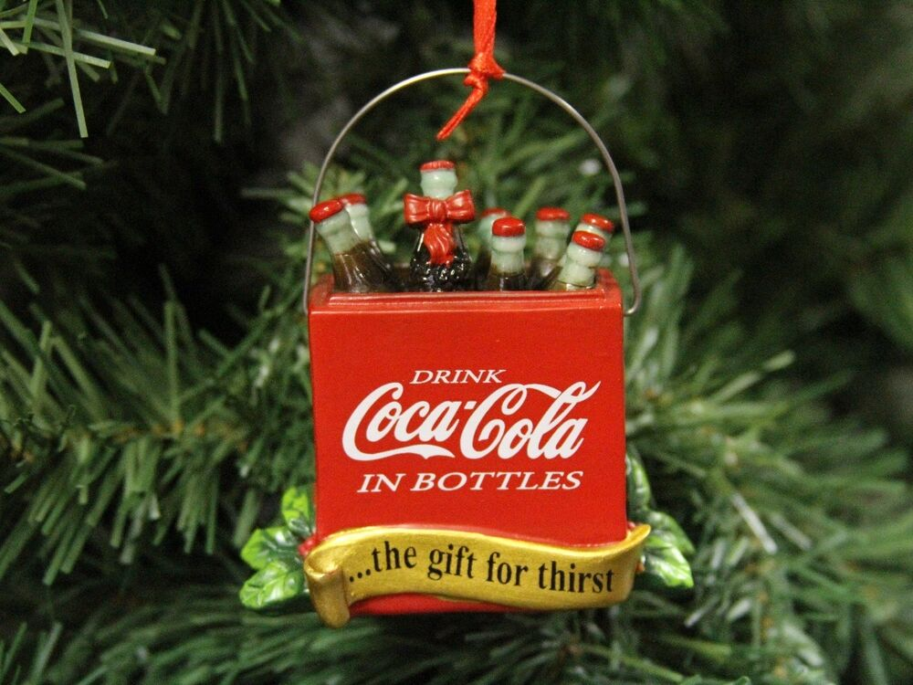 Coke Coca Cola Cooler Christmas Ornament EBay