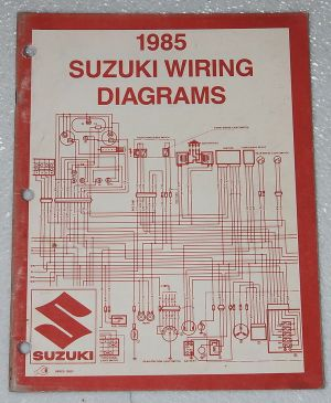 1985 SUZUKI Motorcycle and ATV Electrical Wiring Diagrams