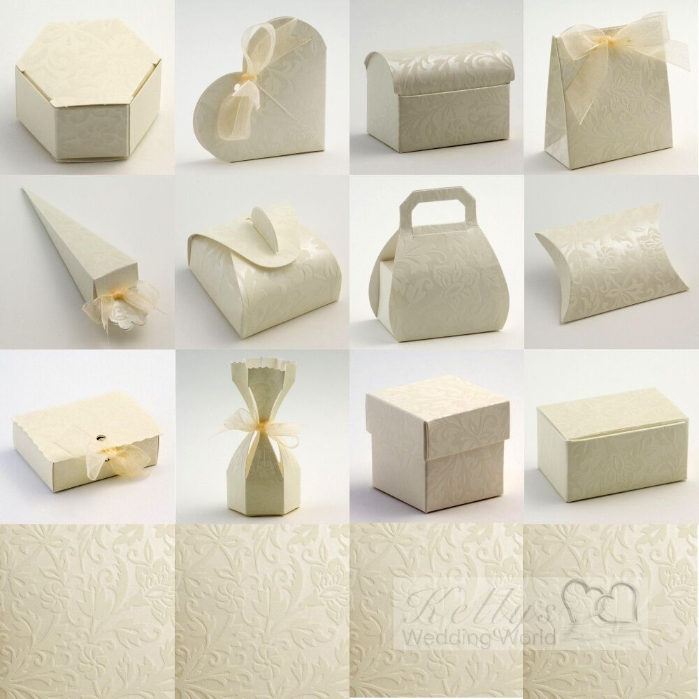 Diamante Ivory Wedding Favour Boxes EBay