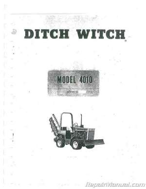 Ditch Witch Gas And Diesel 4010 Trencher Chassis Operators