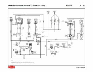 Peterbilt 379 Family HVAC Wiring Diagrams (with & without
