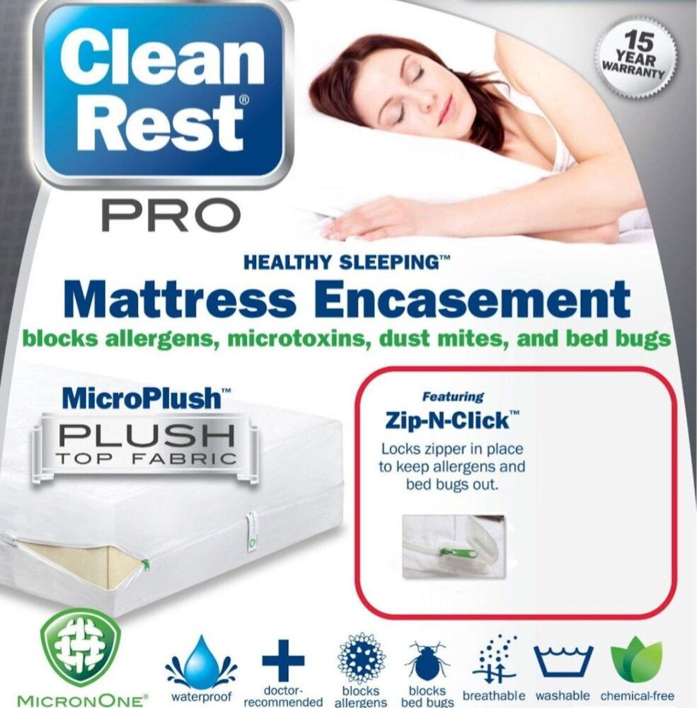 Bed Bug Proof Mattress Box Spring Cover Protector Set