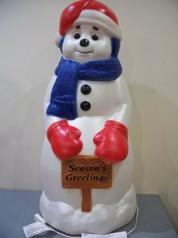 Molded Plastic Outdoor Christmas Decorations