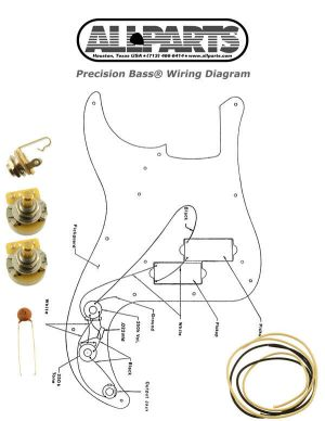NEW Precision Bass Pots Wire & Wiring Kit for Fender P Bass Guitar Diagram | eBay